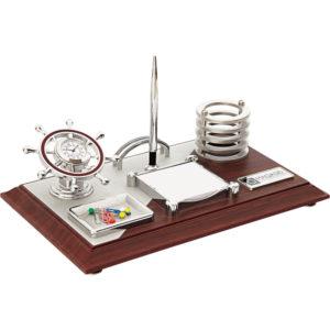 Tekne Dümeni Masa Seti Ebat: 20 x 40 cm Baskı Alanı: 2 x 5,5 cm Metal Etikete Baskı Alanı: 1 x 16 cm