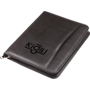 Sekreter Bloknot Baskı: Frekans, UV Fermuarlı Kağıtlık Kartlık Hesap Makinesi Kalem aksesuardır. 25 x 32 cm