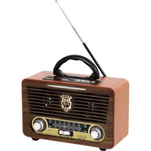 Nostaljik Radyo Bluetooth MP3 Çalma Özelliği SD Kart MP3 Çalma Özelliği AUX USB Girişi