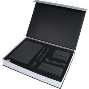 13 x 21 cm Termo Deri Defter 10.000 mAh Powerbank Deri Cüzdan Kartlık Anahtarlık 16 GB USB Bellek Metal Roller ve Tükenmez Kalem Özel Kutu Kutu Boyutu: 38x28x5,5 cm