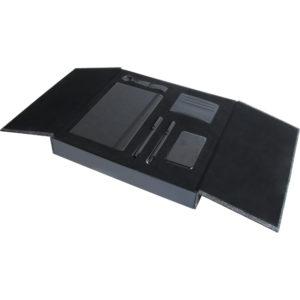 13 x 21 cm Termo Deri Defter 5,000 mAh Powebank Deri Cüzdan Kartlık Anahtarlık Metal Roller ve Tükenmez Kalem Özel Kutu Kutu Boyutu: 34x30.5x5.5 cm