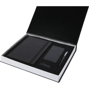 13 x 21 Termo Deri Defter 5.000 mAh Powerbank Metal Roller Kalem 16 GB USB Bellek Özel Kutu Kutu Boyutu: 28.5 x 26 x 3.5 cm