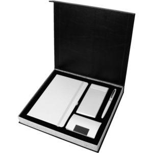 6.000 mAh Powerbank 13 x 21 cm Termo Deri Defter Metal Roller Kalem Kartvizitlik Özel Kutu Kutu Boyutu:28.5 x 26 x 3.5 cm