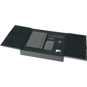 10.000 mAh Powerbank 13 x 21 Defter Metal Roller ve Tükenmez Kalem Kablo Set (Işıklı Kablo) 16 GB USB Bellek Özel Kutu Kutu Boyutu: 33 x 31 x 5 cm