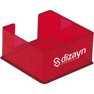 Şeffaf Küp Kağıtlık Kağıtsız Üç Yön Ürün Boyutu: 9 x 9 x 5 cm Reklam Alanı:3,5 x 8,5 cm