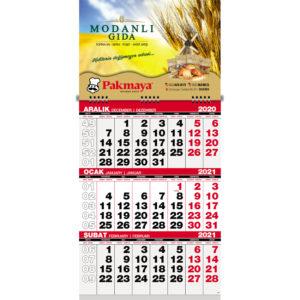 Ekonomik Gemici Takvimi Ebat:31 x 63 cm Tek Parça Spiralli 6 Yaprak Alt Karton : 450gr Exprint Blok Ebadı: 32 x 42 cm Reklam Alanı: 31 x 21,5 cm Yaprak Kağıdı : 80 gr. 1. hamur