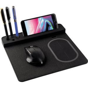 Wireless Şarjlı Mouse Pad Wireless Dizgisi: Tek Sargılı Standart Devre Materyal: PU Tutucular: 4 Kalem + 1 Telefon aksesuardır. Giriş ve Çıkış: 5V / 1A - 5W Lütfen telefonunuzu kendi orjinal kablosu ile kullanınız Bataryalarımız test edilmiş olup 2 yıl garantilidir.