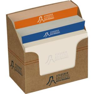 Kraft Merdiven Bloknot 350 Yapraklı Kutu: 300 gr. Kraft Ebat: 5 x 9 x 9 cm İç Kitap Kağıdı 350 Yaprak 7.8 x 7.8 cm Fiyat Teklifi Alınız..